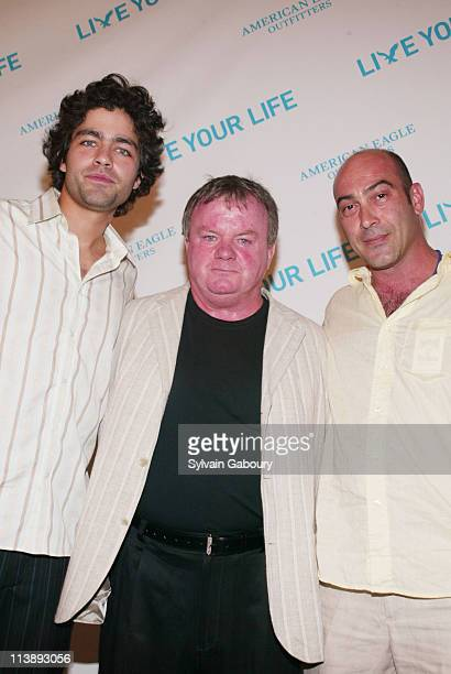Adrian Grenier Jack McGee John Ventimiglio during Young Hollywood celebrates American Eagle Outfitters 'Live Your Life' at American Eagle Flagship...