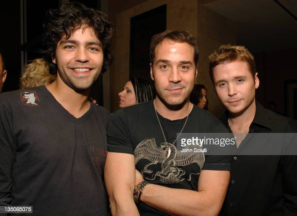 Adrian Grenier Jeremy Piven and Kevin Connolly during Palms Casino Resort 1st Annual Fantasy Suite Block Party at Palms Hotel in Las Vegas Nevada...