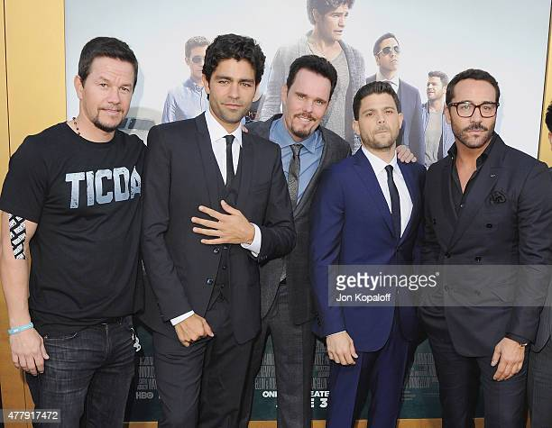 Adrian Grenier Kevin Dillon Jerry Ferrara and Jeremy Piven attend at the Los Angeles Premiere Entourage at Regency Village Theatre on June 1 2015 in...
