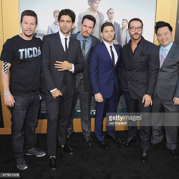 """Adrian Grenier, Kevin Dillon, Jerry Ferrara and Jeremy Piven attend at the Los Angeles Premiere """"Entourage"""" at Regency Village Theatre on June 1,..."""