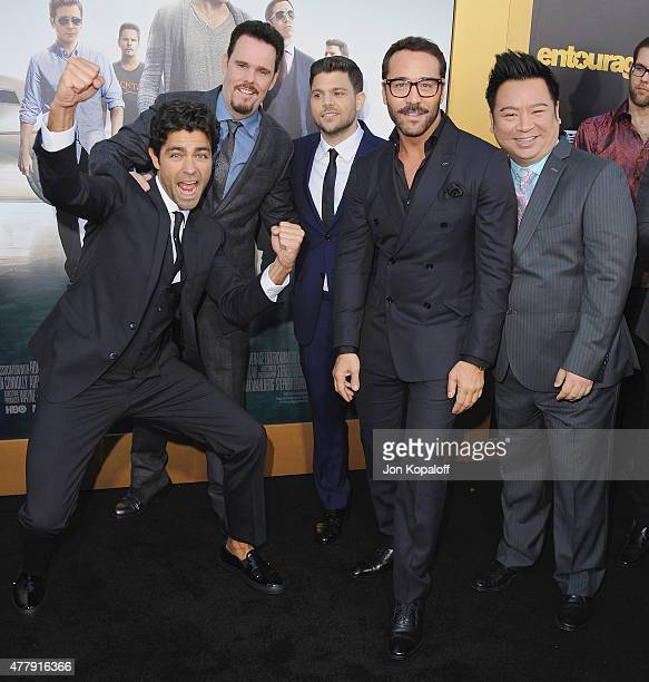 "Adrian Grenier, Kevin Dillon, Jerry Ferrara, Jeremy Piven and Rex Lee attend at the Los Angeles Premiere ""Entourage"" at Regency Village Theatre on..."