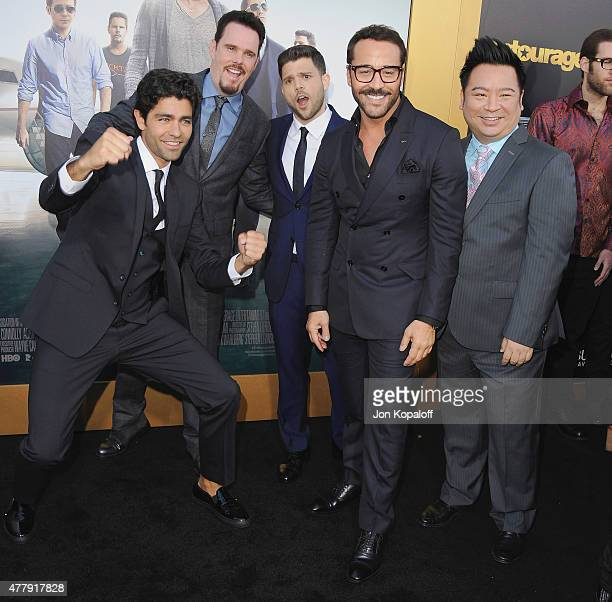 """Adrian Grenier, Kevin Dillon, Jerry Ferrara, Jeremy Piven and Rex Lee attend at the Los Angeles Premiere """"Entourage"""" at Regency Village Theatre on..."""