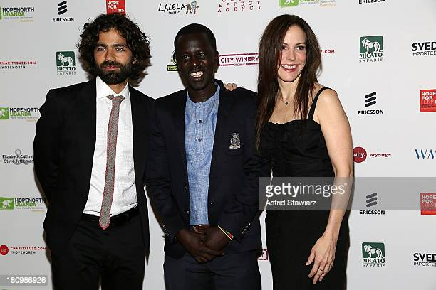 Adrian Grenier, Okello Sam and Mary-Louise Parker attend The Inaugural Hope North Gala at City Winery on September 18, 2013 in New York City.