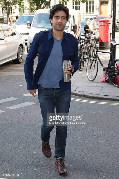 Adrian Grenier seen at KISS FM Studios on June 10 2015 in London England