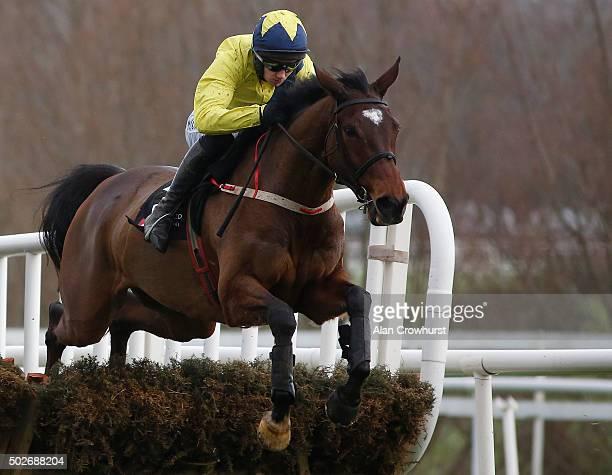 Adrian Heskin riding Martello Tower in action at Leopardstown racecourse on December 28 2015 in Dublin Ireland
