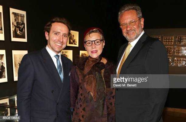 Adrian Hume Sayer Karin Hofer and Sean Hepburn Ferrer attend the opening reception for 'Audrey Hepburn The Personal Collection' at Christie's on...
