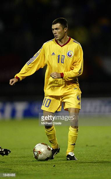 Adrian Ilie of Romania in action during the 2004 European Championship Group 2 Qualifying match between Luxembourg and Romania on October 16 2002...