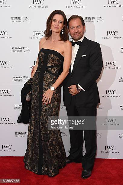 Adrian Jossa and Deborah Jossa attend the fifth IWC Filmmaker Award gala dinner at the 13th Dubai International Film Festival during which Swiss...