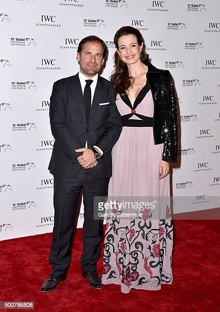 Adrian Jossa and Deborah Jossa attend the IWC Filmmakers Award during day two of the 12th annual Dubai International Film Festival held at The One...