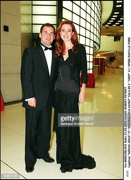 Adrian Jossa and 'Deborah Naja Murat' 'Arop' gala at the Bastille opera in Paris