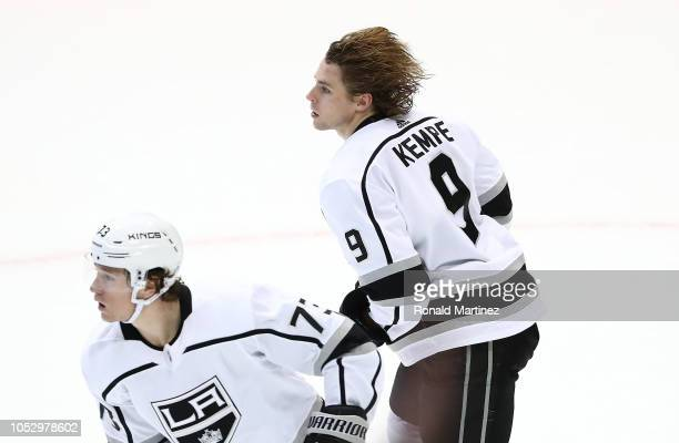 Adrian Kempe of the Los Angeles Kings in the third period at American Airlines Center on October 23 2018 in Dallas Texas