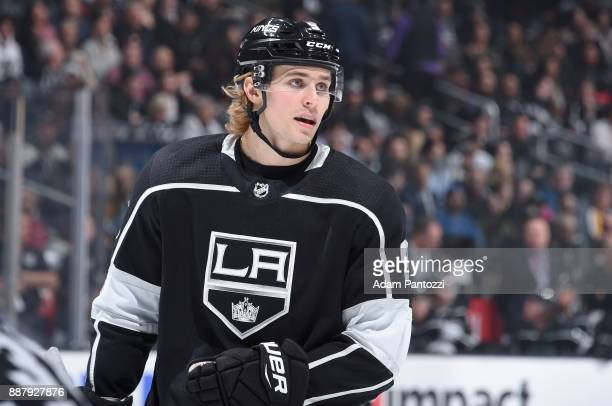 Adrian Kempe of the Los Angeles Kings looks on during a game against the Minnesota Wild at STAPLES Center on December 5 2017 in Los Angeles California