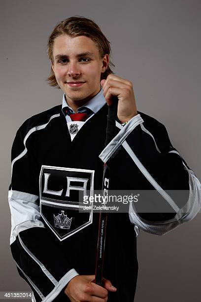 Adrian Kempe of the Los Angeles Kings poses for a portrait during the 2014 NHL Draft at the Wells Fargo Center on June 27 2014 in Philadelphia...