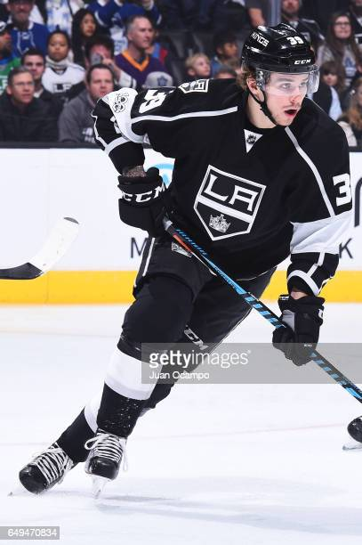 Adrian Kempe of the Los Angeles Kings skates during the game against the Toronto Maple Leafs on March 2 2017 at Staples Center in Los Angeles...