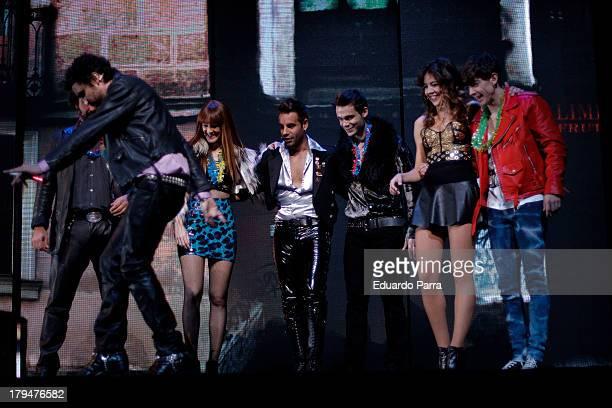 Adrian Lastra Andrea Guasch Xavi Navarro David Carrillo Ana Polvorosa and Canco Rodriguez dances during rehearsals for the press during the...