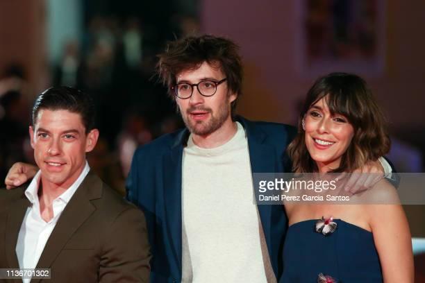 Adrian Lastra Dani de la Orden and Belen Cuesta attend 'Litus' premiere during the 22th Malaga Film Festival on March 18 2019 in Malaga Spain