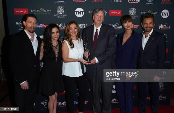 Adrian Lastra Martha Higareda Elvi Cano John Bailey Jackie Cruz and Eugenio Derbez attend the 5th Annual Premios PLATINO Of Iberoamerican Cinema...
