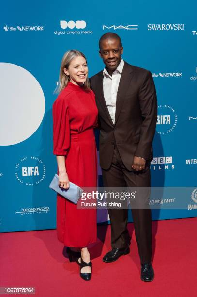 Adrian Lester and Kelly Adams attend the 21st British Independent Film Awards at Old Billingsgate in the City of London December 02 2018 in London...