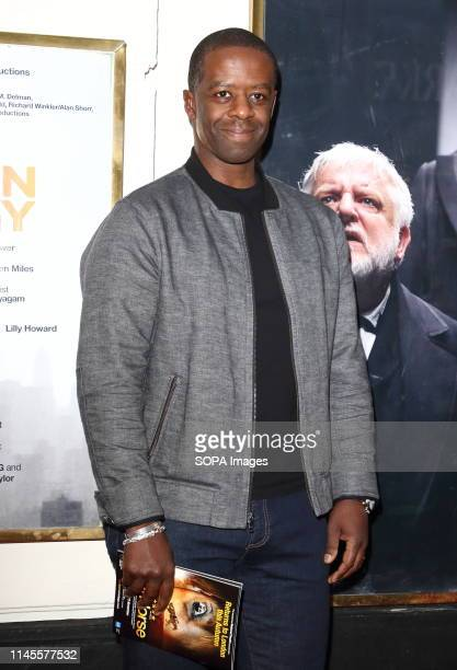 Adrian Lester at The Lehman Trilogy Press Night at the Piccadilly Theatre Piccadilly Circus
