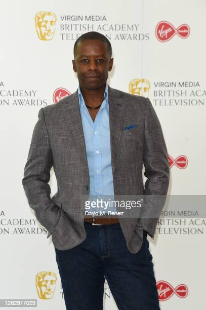 Adrian Lester attends the Virgin Media British Academy Television Award 2020 at Television Centre on July 31 2020 in London England