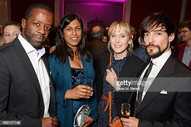 Adrian Lester Lolita Chakrabarti Hattie Morahan and Blake Ritson attend an after party celebrating the press night performance of Benvenuto Cellini...