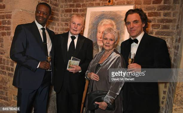 Adrian Lester Sir Derek Jacobi Dame Judi Dench and Alexander Newley attend the St MartinintheFields Gala Dinner and auction of Alexander Newley...