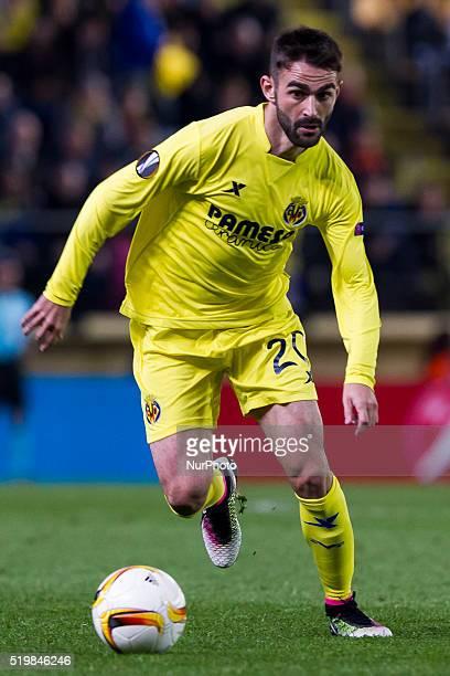 20 Adrian Lopez Alvarez del Villarreal CF during UEFA Europa League quarterfinals first leg match between Villarreal CF v Sparta Prague at El...