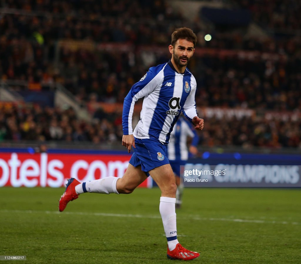 Uefa Champions League Round Of: Adrian Lopez Of FC Porto Celebrates After Scoring The Team