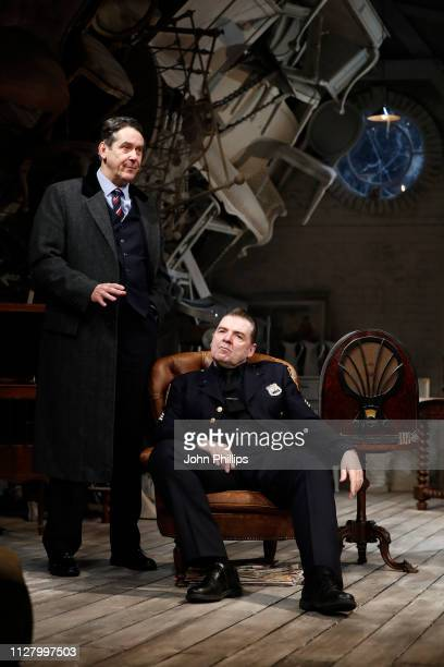 Adrian Lukis and Brendan Coyle during a photocall for The Price at Wyndhams Theatre on February 07 2019 in London England