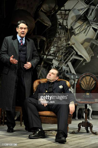 Adrian Lukis as Walter Franz and Brendan Coyle as Victor Franz in Theatre Royal Bath's production of Arthur Miller's The Price directed by Jonathan...