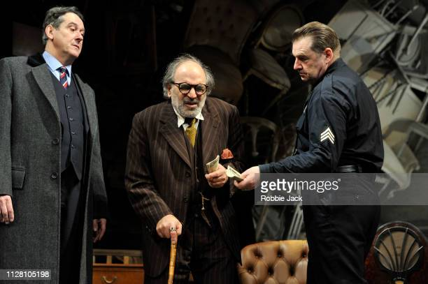 Adrian Lukis as Walter Franz David Suchet as Gregory Solomon and Brendan Coyle as Victor Franz in Theatre Royal Bath's production of Arthur Miller's...
