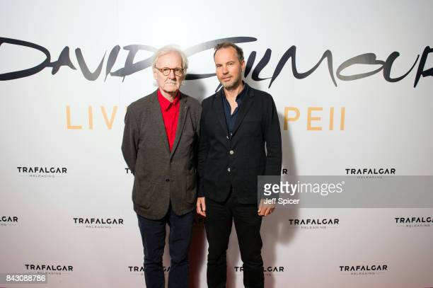 Adrian Maben and Gavin Elder arrive for the David Gilmour 'Live At Pompeii' premiere screening at Vue West End on September 5 2017 in London England
