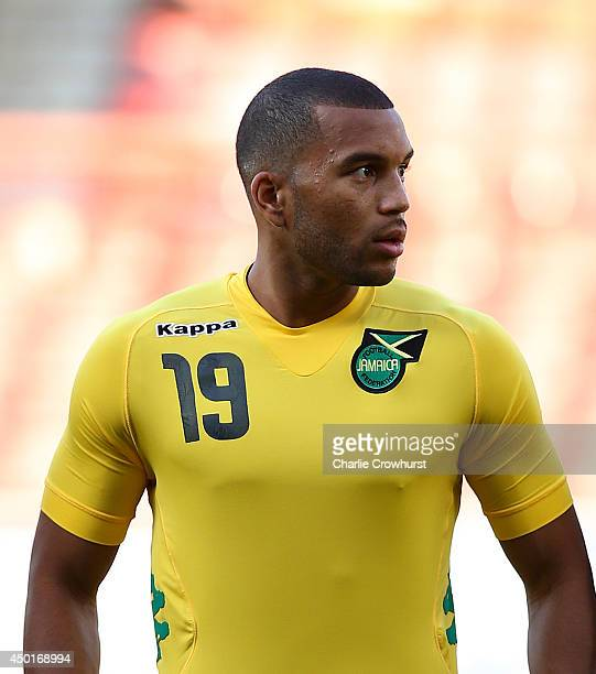 Adrian Mariappa of Jamacia during the International Friendly match between Jamacia and Egypt at The Matchroom Stadium on June 04 2014 in London...