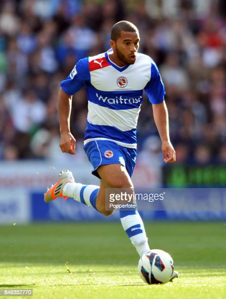 Adrian Mariappa of Reading in action during the Barclays Premier League match between Reading and Newcastle United at Madejski Stadium on September...