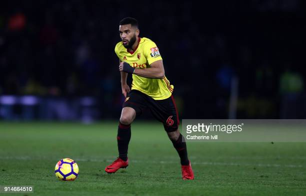 Adrian Mariappa of Watford during the Premier League match between Watford and Chelsea at Vicarage Road on February 5 2018 in Watford England