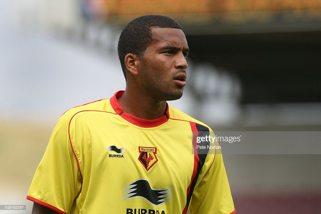 Adrian Mariappa of Watford in action during the pre season match between Northampton Town and Watford at Sixfields Stadium on July 24, 2010 in Northampton, England.