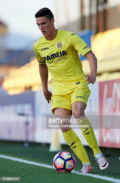 Adrian Marin of Villarreal in action during the friendly match between Villarreal CF and CD Hospitalet at Ciudad Deportiva of Miralcamp on July 16...