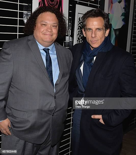 Adrian Martinez and Ben Stiller attend the 20th Century Fox With The Cinema Society Brooks Brothers screening of The Secret Life Of Walter Mitty...