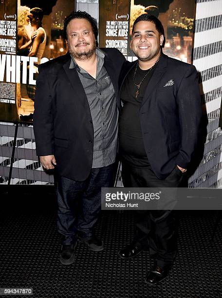 Adrian Martinez and Ralph Rodriguez attend the 'White Girl' New York Premiere at Angelika Film Center on August 22 2016 in New York City