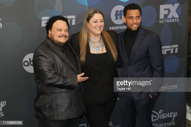 Adrian Martinez, Camryn Manheim, and Michael Ealy attend the 2019 ABC Walt Disney Television Upfront at Tavern on the Green on May 14, 2019 in New...