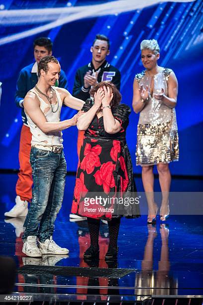 Adrian Mathias and Heidi Schimiczek during the second Semifinal of 'Das Supertalent' TV Show on December 07 2013 in Cologne Germany