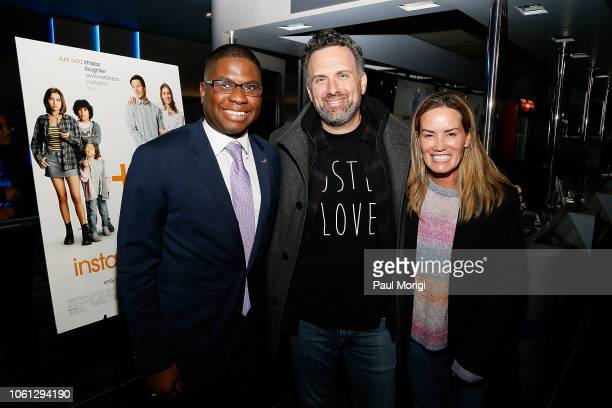 Adrian Mclemore of the Anne E Casey Foundation Writer/Director Sean Anders and Beth Anders attend a special screening of 'Instant Family' at the...