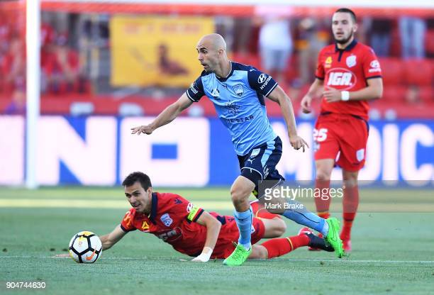 Adrian Mierzejewski of Sydney FC during the round 16 ALeague match between Adelaide United and Sydney FC at Coopers Stadium on January 14 2018 in...
