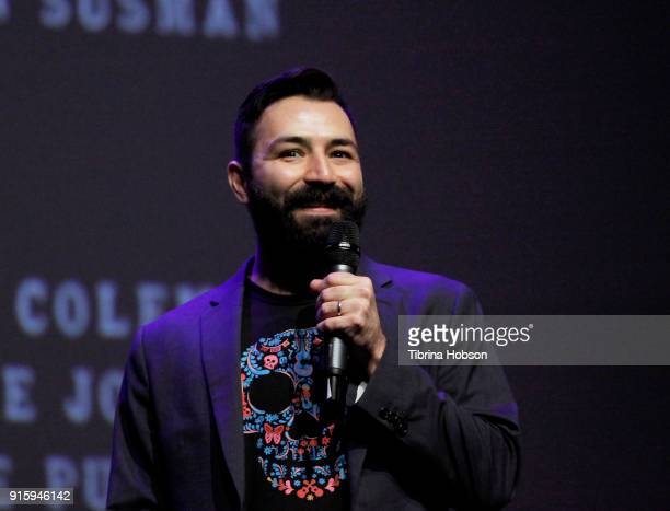 Adrian Molina attends the screening and QA of 'Coco' at the 33rd annual Santa Barbara International Film Festival at Arlington Theatre on February 8...