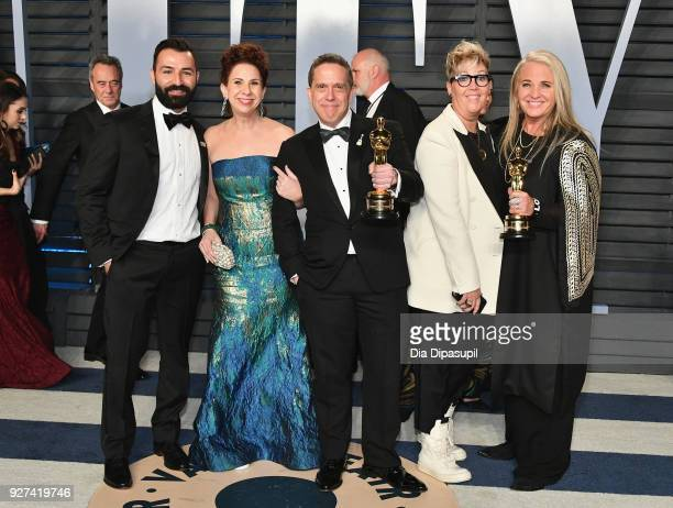 Adrian Molina Laura Century Lee Unkrich Kori Rae and Darla K Anderson attend the 2018 Vanity Fair Oscar Party hosted by Radhika Jones at Wallis...