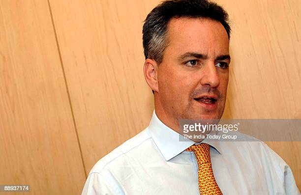 Adrian Mowat Managing Director JP Morgan Asia Pacific poses during interview at office in Mumbai India Potrait Sitting