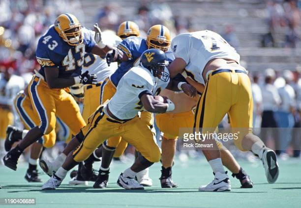 Adrian Murrell Running Back for the University of West Virginia Mountaineers during the NCAA Big East Conference college football game against the...