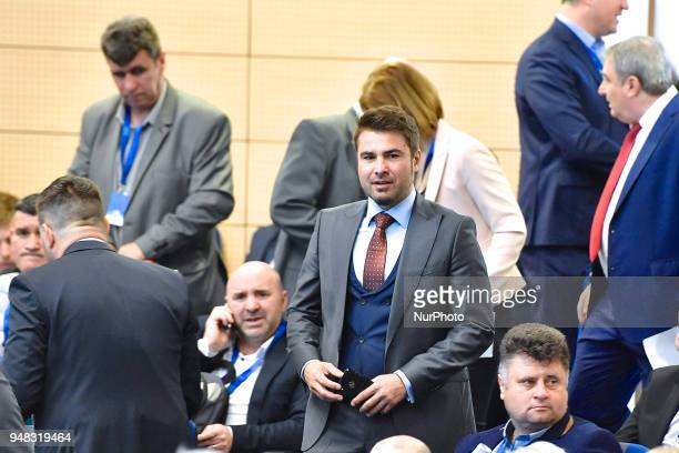 Adrian Mutu head coach of FC Voluntari during Elections for the President of the Romanian Football Federation quotCasa Fotbaluluiquot Bucharest 18...