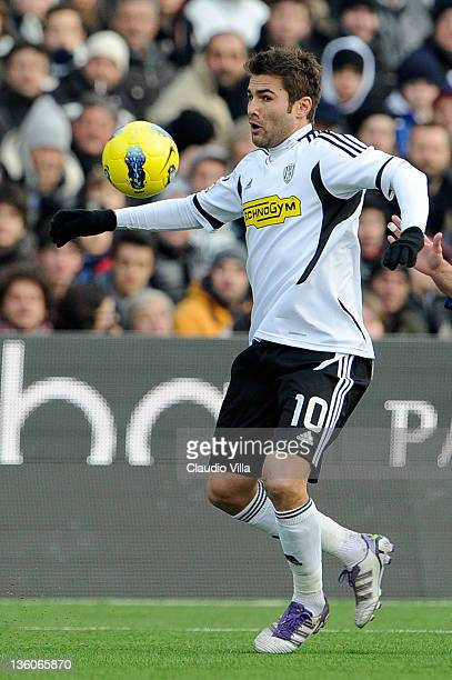 Adrian Mutu of AC Cesena during the Serie A match between AC Cesena and FC Internazionale Milano at Dino Manuzzi Stadium on December 18 2011 in...