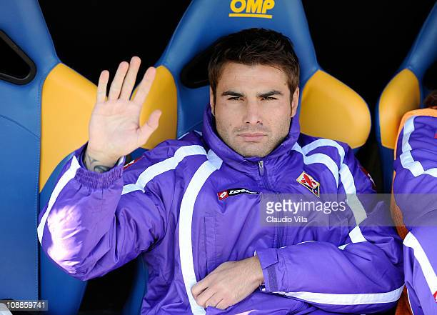 Adrian Mutu of ACF Fiorentina during the Serie A match between Parma FC and ACF Fiorentina at Stadio Ennio Tardini on February 6 2011 in Parma Italy